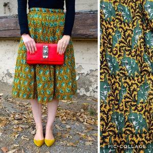 J. Crew Ratti Elephant Print Midi Length Skirt